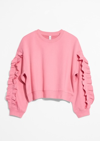 & Other Stories, Frill Sleeve Sweater AED349